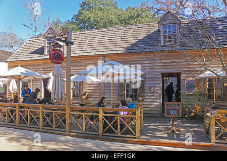 Bull & Crown Publick House in Colonial Quarter of St. Augustine, Florida - Stock Photo