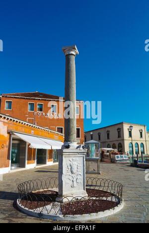 Piazzale Calle Colonna, Murano island, Venice, Italy - Stock Photo