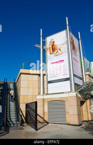 Centre Comercial Diagonal Mar, biggest shopping centre in Catalonia, Diagonal Mar, Sant Marti, Barcelona, Spain - Stock Photo