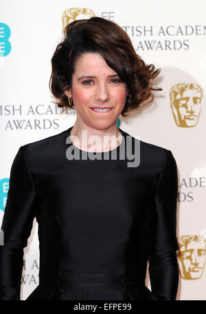 London, UK. 8th February, 2015. Actress Sally Hawkins poses at the winner's photo room of 67th annual EE British - Stock Photo