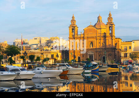 St. Joseph's Church, Msida Creek Harbour, Valletta, Malta, Mediterranean, Europe - Stock Photo