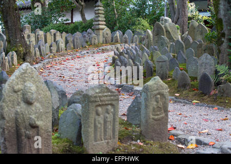 Holy stones at Gangoji Temple, UNESCO World Heritage Site, Nara, Kansai, Japan, Asia - Stock Photo