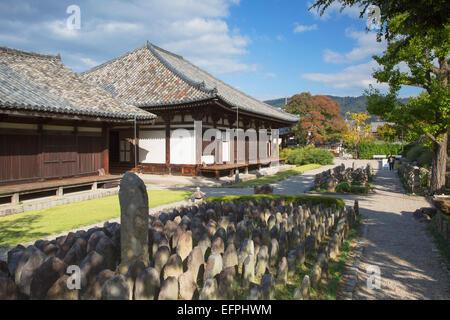 Gangoji Temple, UNESCO World Heritage Site, Nara, Kansai, Japan, Asia - Stock Photo