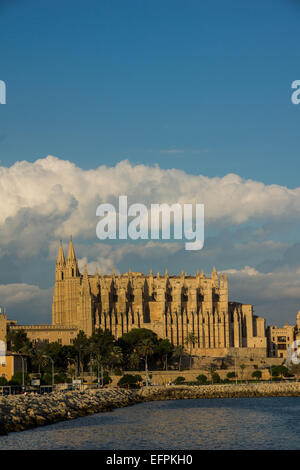 The Cathedral in Palma de Mallorca - Stock Photo