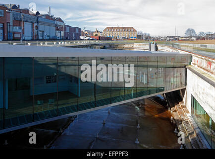 Danish Maritime Museum, M/S Museet for Søfart, Elsinore / Helsingør, Denmark. Architect Bjarke Ingels BIG. - Stock Photo