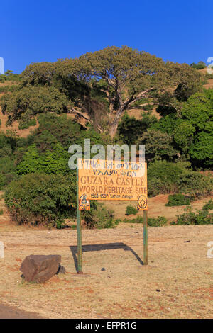 Landscape near Gonder, Amhara region, Ethiopia - Stock Photo