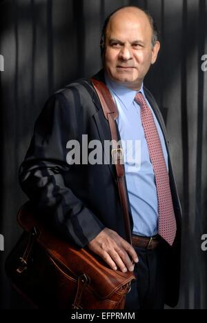 Ahamed Liaquat. Kenyan Economist, writer and Pulitzer-prize winning author. Portrait in Barcelona - Stock Photo