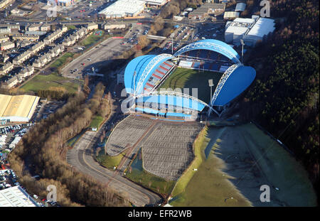 aerial view of Huddersfield Town FC John Smith Stadium, UK football ground