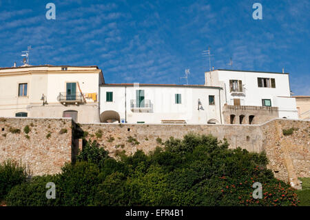 Houses in Termoli, province of Campobasso, Molise region, Italy - Stock Photo
