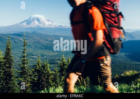 Washington, Gifford Pinchot NF, Goat Rocks Wilderness, Cascade Range, Mt. Adams - Stock Photo