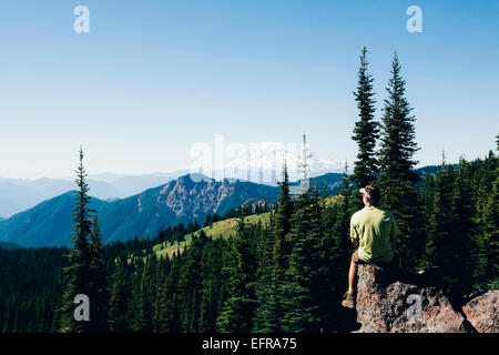 Washington, Gifford Pinchot NF, Goat Rocks Wilderness, Cascade Range - Stock Photo
