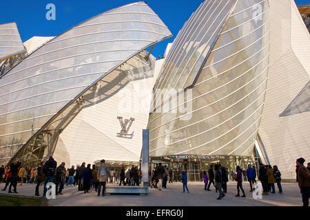 Louis Vuitton Foundation Museum, Paris, France - Stock Photo