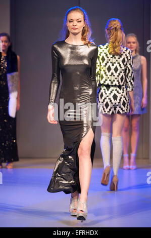 Models Wearing High Street Designs During The Shopstyle Fashion Show Stock Photo Royalty Free