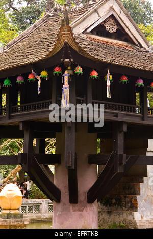 One Pillar Pagoda Hanoi north Vietnam - Stock Photo