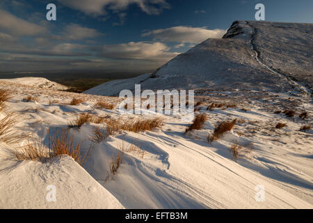 Cribyn view from Beacons Way, Brecon Beacons National Park, Powys, Wales, UK - Stock Photo