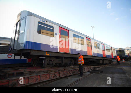 Decommission of 'D' Stock carriages used on the London Underground, London, England, UK - Stock Photo