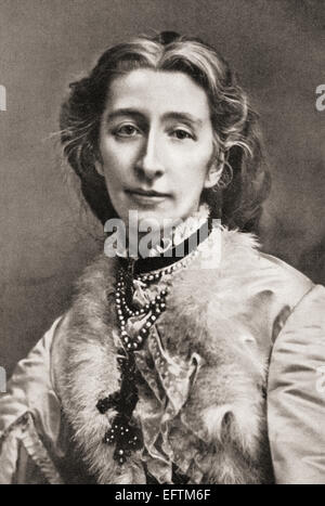 Cosima Wagner, born Francesca Gaetana Cosima Liszt, 1837 – 1930.  Daughter of the Hungarian pianist and composer - Stock Photo