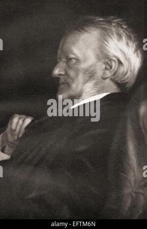 Wilhelm Richard Wagner, 1813 – 1883.  German composer.