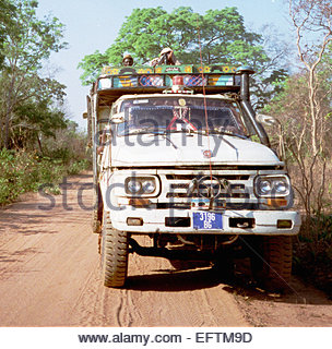 Trucking Truck Lorry Driver People Person Central African Republic 2000 Landlocked Country In Central Africa - Stock Photo