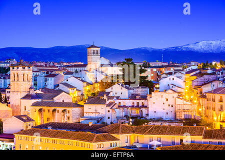 Segovia, Spain old town cityscape. - Stock Photo