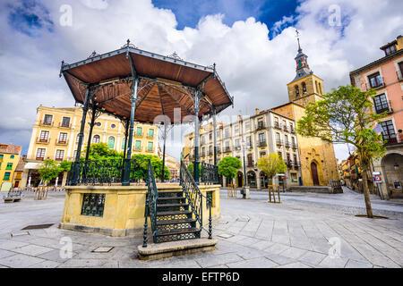 Segovia, Spain gazebo in Plaza Mayor. - Stock Photo