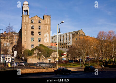 Scottish 1800`s Jute Mill owned by The Baxter Brothers where Mary Slessor worked and is now a Listed Building in - Stock Photo