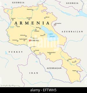 Georgia State Political Map Stock Photo Royalty Free Image - Yerevan georgia map