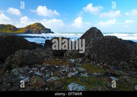 View Giant's Causeway Northern Ireland - Stock Photo