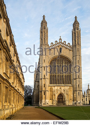 Kings College Chapel Cambridge UK - Stock Photo