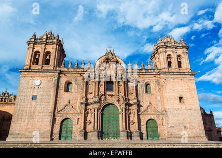 Cathedral of Cusco, Peru on the Plaza de Armas in the historic center of the city - Stock Photo