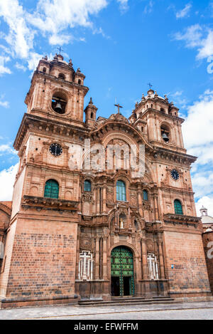 Church of the Society of Jesus on the Plaza de Armas in Cusco, Peru - Stock Photo