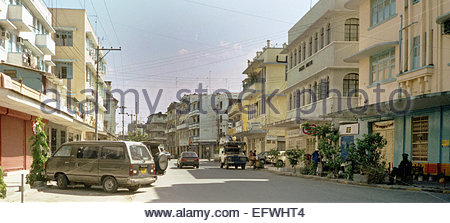 Africa, East Africa, Tanzania, Dar Es Salaam, View Of Cars And City Street Scene (2000) - Stock Photo