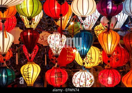 Traditional silk lanterns, Hoi An, Vietnam.