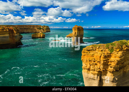 Razorback and other formations, Port Campbell National Park, Great Ocean Road, Victoria, Australia - Stock Photo