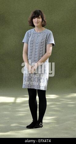 Blogger Katie Green (wearing cardigan) and writer Matilda Tristram attend the Edinburgh International Book Festival - Stock Photo
