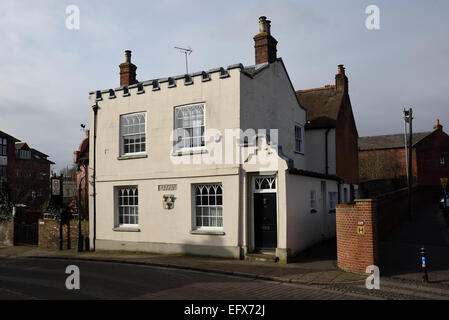 Donjon House, formerly a public house, in Castle Row, Canterbury, Kent, UK - Stock Photo