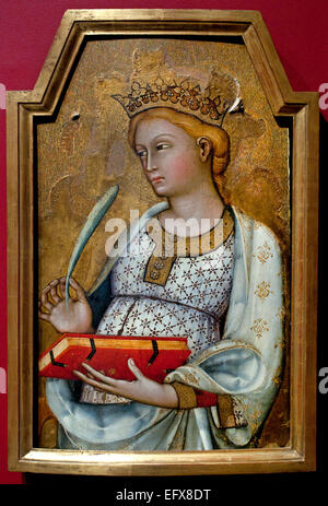 Saint Catherine of Alexandria 1400 Paolo di Giovanni Fei 1345 – 1411 painter of the Sienese school  Italy Italian - Stock Photo