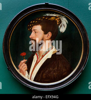 PORTRAIT OF SIMON GEORGE OF CORNWALL 1535–40  HANS HOLBEIN THE YOUNGER  1497 - 1543   German Germany - Stock Photo