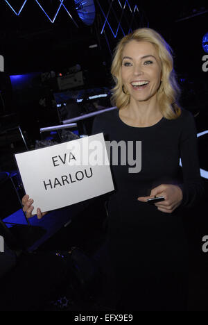 Copenhagen, Denmark. 11th February, 2015. Mrs Eva Harlou, the X-Factor's host on Danish national broadcasting or - Stock Photo