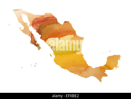 Mexico Watercolor Map. Beautiful Wall Art / Home Decor Canvas Prints ...