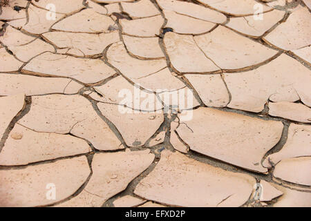 Dry soil, Death valley, california, usa - Stock Photo