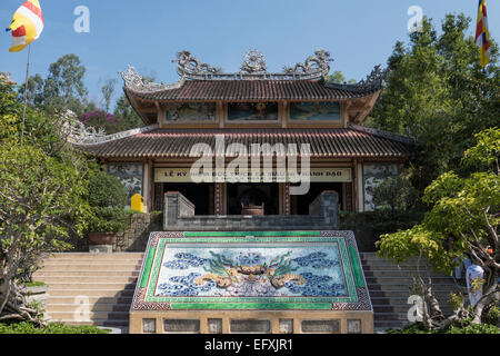 Vietnam, Nha Trang, Long Son Pagoda - Stock Photo