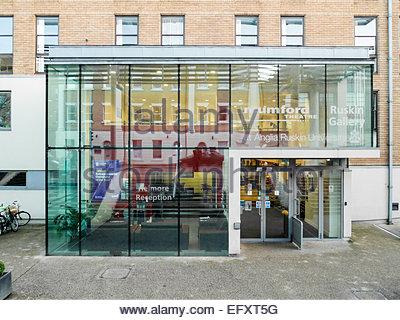 Main Entrance, Anglia Ruskin University Cambridge Campus - Stock Photo