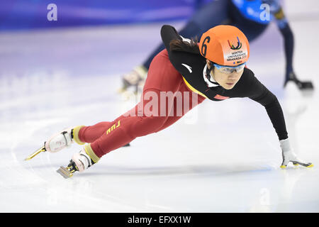 Universiade Igloo, Granada, Spain. 11th Feb, 2015. General view, FEBRUARY 11, 2015 - Short Track : 27th Winter Universiade Granada 2015 Short Track at Universiade Igloo, Granada, Spain. Credit:  AFLO SPORT/Alamy Live News