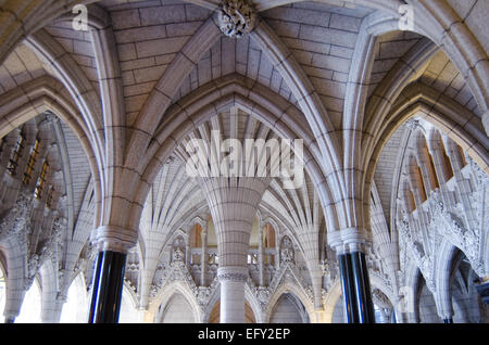 The ornate gothic revival interior of the parliament of for Gothic revival interior