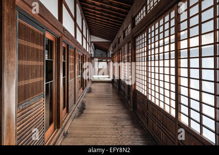 Nanzen-ji zen temple, Kyoto, Japan. An interior view of the Hojo (the Abbot's residence) - Stock Photo