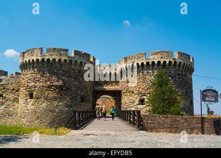 Zindan gate, Kalemegdan fortress park, Belgrade, Serbia, Southeastern Europe - Stock Photo