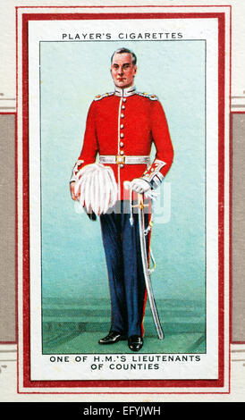 Player`s cigarette card - One of H.M.`s Lieutenants of Counties.