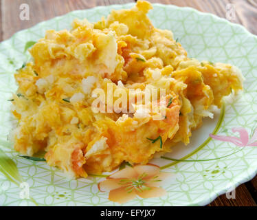 Clapshot - traditional Scottish dish that originated in Orkney. combined mashing of swede turnips and potatoes - Stock Photo