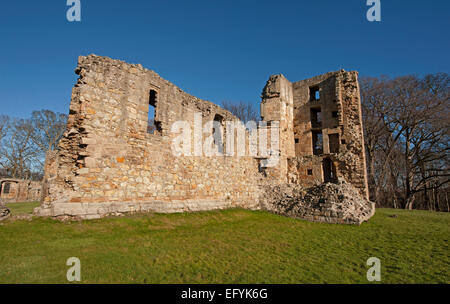 The South East section of Spynie Palace, Elgin.    9553 - Stock Photo